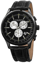 Akribos XXIV Men&s Chronograph Date Croc Embossed Leather Strap Watch