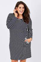 NEW Threadz Womens Short Dresses Zip Trim Dress NavyWhite