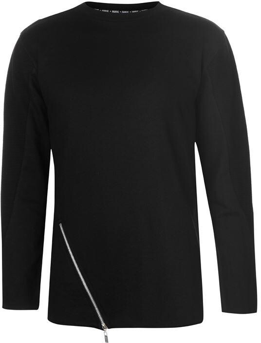 Thumbnail for your product : Fabric Asymmetric Zip Long Sleeve T Shirt Mens