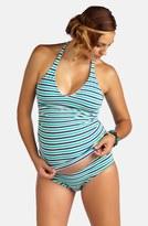 Pez D'or Striped Sporty Tankini Maternity Swimsuit