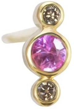Irena Chmura Jewellery Airy Stud Pink Sapphire Single