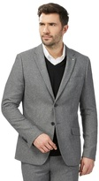 J By Jasper Conran Big And Tall Grey Textured Single Breasted Jacket With Wool