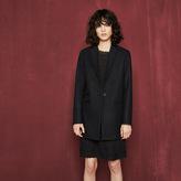 Maje Overcoat with velvet details
