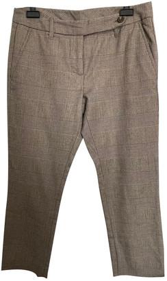 Silvian Heach Beige Wool Trousers