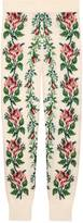 Gucci Intarsia flowers wool leggings