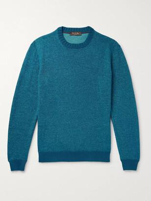 Loro Piana Melange Linen, Cashmere And Silk-Blend Sweater