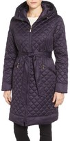 Ellen Tracy Women's Hooded Belted Down Coat