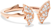 Stephen Webster Fly By Night Mini 18-karat Rose Gold Diamond Ring