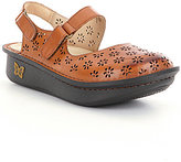 Alegria Jemma Hand-Stitched Perforated Leather Mary Janes