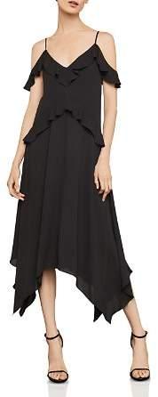 BCBGMAXAZRIA Lissa Handkerchief-Hem Slip Dress
