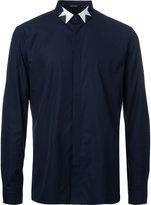 Neil Barrett geometric collar shirt - men - Cotton - 41
