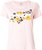 Kenzo logo floral T-shirt - women - Cotton - XS