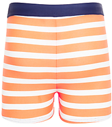 John Lewis Boys' Striped Swimming Trunks, Orange/White