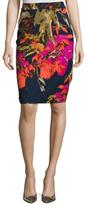 Trina Turk Miki Print Pencil Skirt