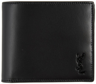 Saint Laurent Black Tiny Monogram East/West Wallet