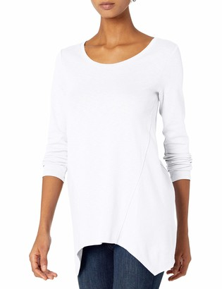 Daily Ritual Cotton Modal Stretch Slub Long-Sleeve Seamed Top Shirt