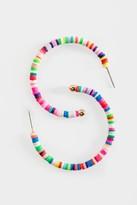 francesca's Monique Color-block Hoops - Multi