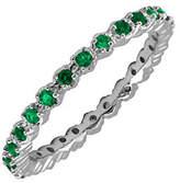 Simply Stacks Sterling Prong-Set Emerald Stacka
