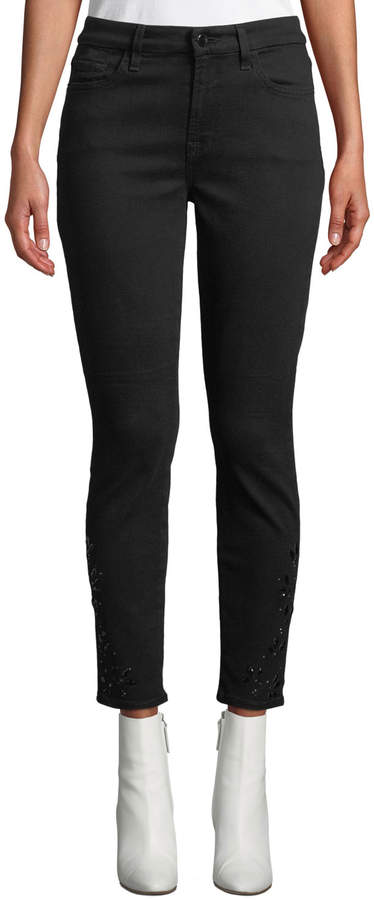 7 For All Mankind Jen7 By Riche Touch Coated Ankle Skinny Jeans