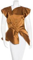 Bottega Veneta Silk Structured Top
