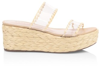 Schutz Royce Vinyl Braided Wedge Mules