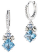 Judith Jack Cubic Zirconia, Marcasite, Spinnel and Sterling Silver Drop Earrings