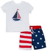 Little Me Boys' Sailboat Tee & Swim Trunks Set - Baby
