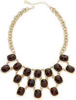 JCPenney MONET JEWELRY Monet Tortoise-Look Stone Statement Necklace