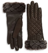 UGG Shearling And Quilted Leather Smart Gloves