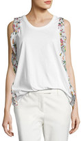3.1 Phillip Lim Ruffle-Trim Cotton Jersey Tank, Antique White
