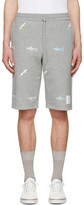 Thom Browne Grey Classic Shark & Surfboard Lounge Shorts
