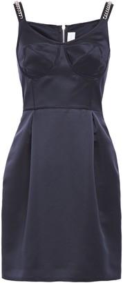 Victoria Victoria Beckham Chain-trimmed Duchesse Satin Mini Dress