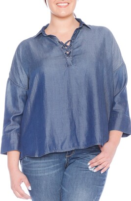 SLINK Jeans Lace-Up Top