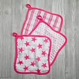 aden + anais Pink Star Wash Up Washcloths (Set of 3)