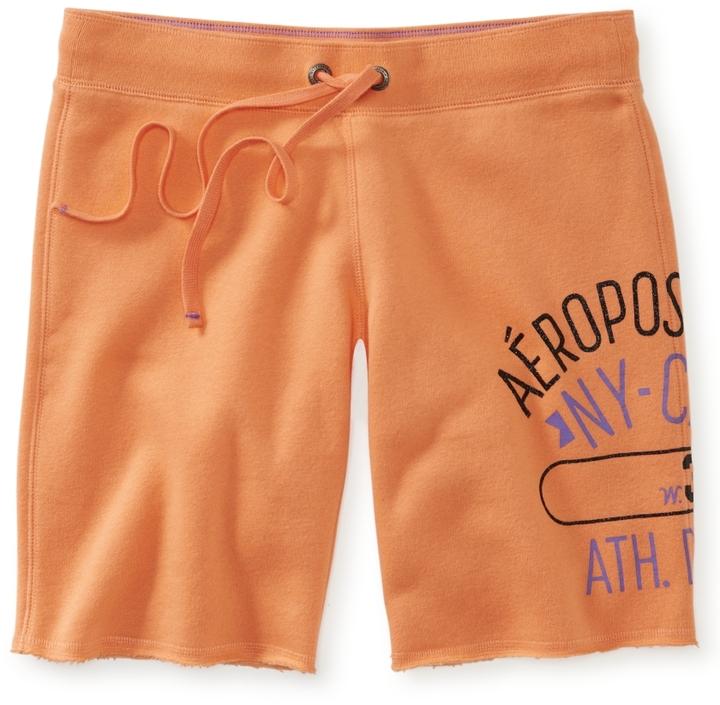 Aeropostale Aero NYC 34th Fleece Bermuda Shorts
