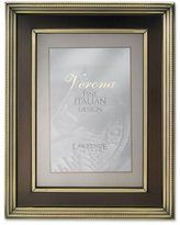 Lawrence Frames 4 by 6-Inch Brushed Brass Metal Picture Frame, Oil Rubbed Bronze Inner Panel