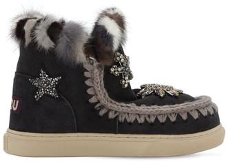 Mou Eskimo Shearling Boots W/ Embellishment