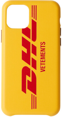 Vetements Yellow DHL Edition Logo iPhone 11 Pro Case