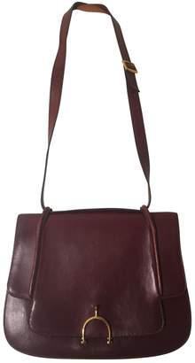 Hermes Burgundy Leather Handbags