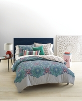 LAST ACT! Whim by Martha Stewart Collection Bohemian Rhapsody Reversible Blue Lagoon Bedding Ensembles