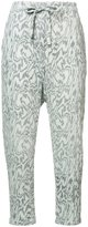 Raquel Allegra marble print cropped trousers