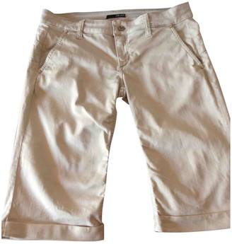 Liu Jo Liu.jo Beige Cotton - elasthane Shorts for Women