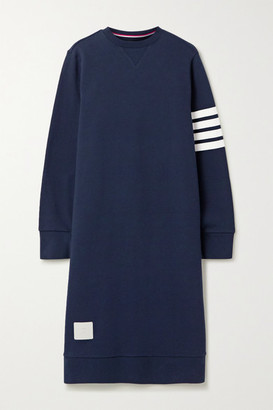 Thom Browne Striped Cotton-jersey Dress - Navy