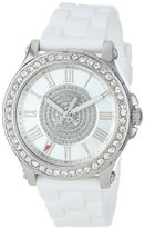 Juicy Couture Women's 1901051 Pedigree Stainless Steel Watch with White Silicone Strap