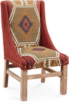 AA Importing Keene Side Chair, Maroon Kilim