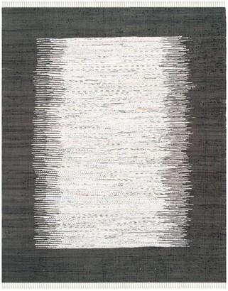 Safavieh Montauk Ivory & Black Ikat Cotton Pile Rug