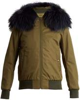 Mr & Mrs Italy Fur-trimmed cotton-blend bomber jacket