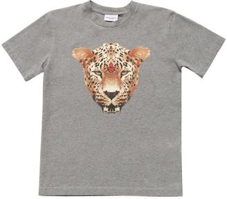 Marcelo Burlon County of Milan Tiger Print Cotton Jersey T-Shirt