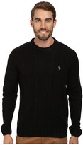 U.S. Polo Assn. L/S Mohair Cable Fro