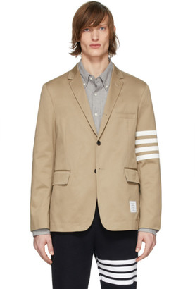 Thom Browne Beige Deconstructed 4-Bar Blazer